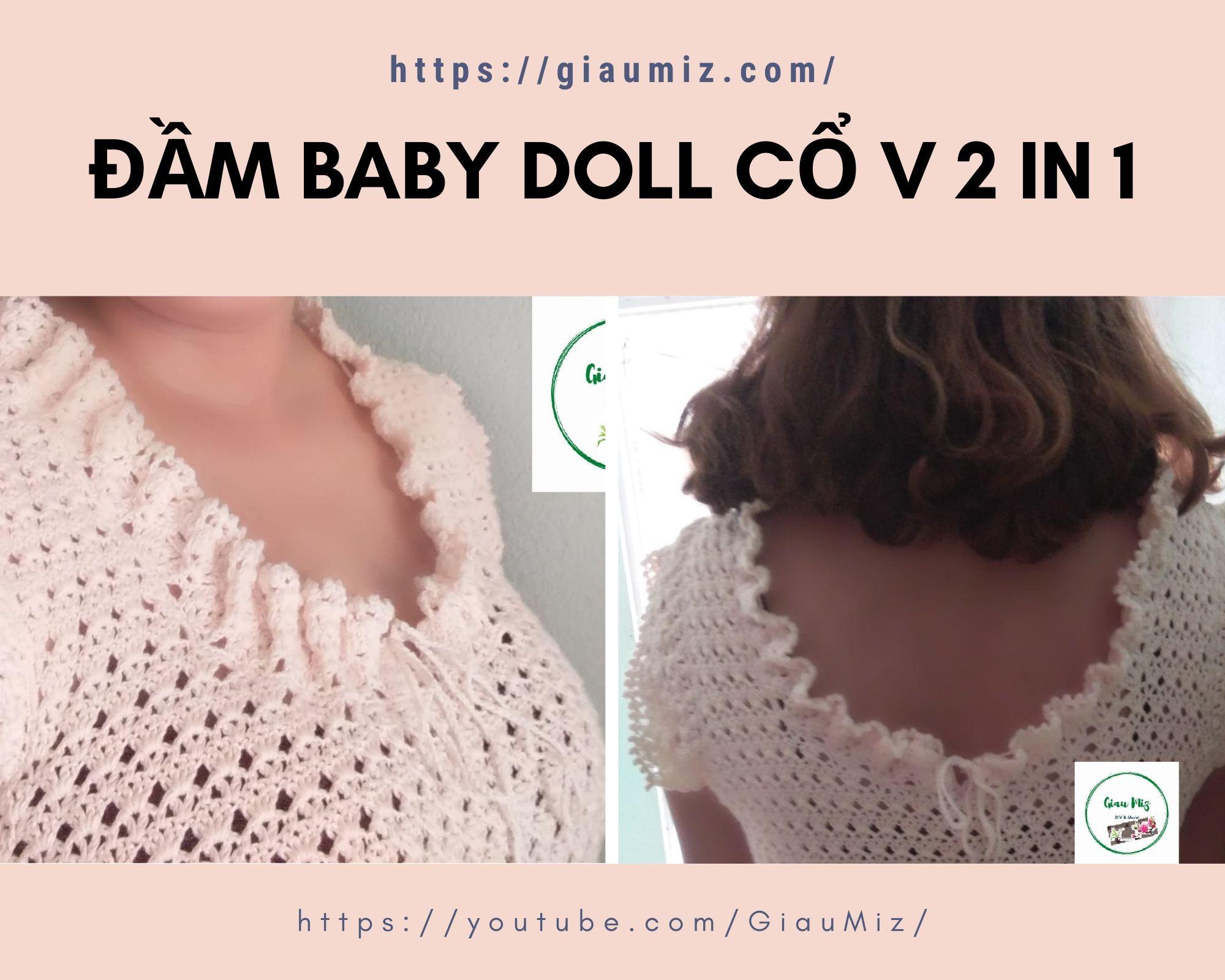 đầm baby doll cổ v 2 in 1 _ giaumiz