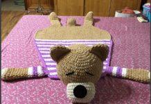 hướng dẫn móc thảm len Teddybear