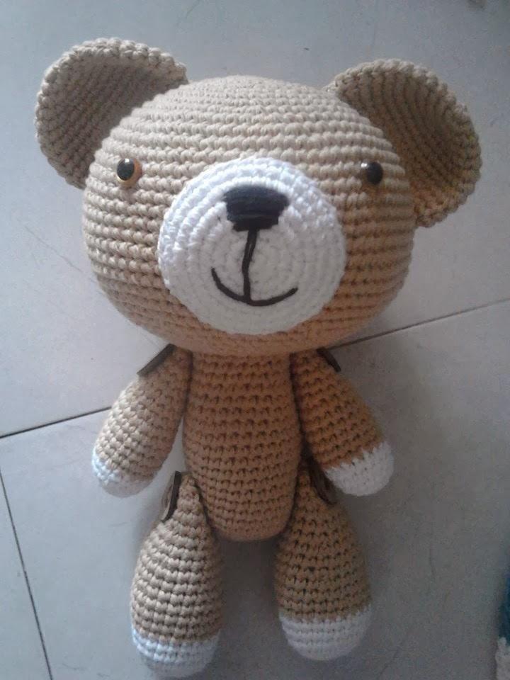 hướng dẫn cách móc gấu bông bằng len